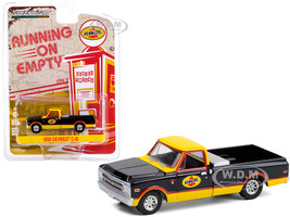 1968 Chevrolet C-10 Pickup Truck Toolbox Pennzoil Black Yellow Running on Empty Series 12 1/64 Diecast Model Car Greenlight 41120 D