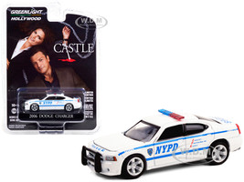 2006 Dodge Charger White New York City Police Department NYPD Castle 2009 2016 TV Series Hollywood Series Release 30 1/64 Diecast Model Car Greenlight 44900 D