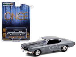 1970 Chevrolet Chevelle SS 454 Dark Gray Black Stripes Once Upon A Time 2011 2018 TV Series Hollywood Series Release 30 1/64 Diecast Model Car Greenlight 44900 E
