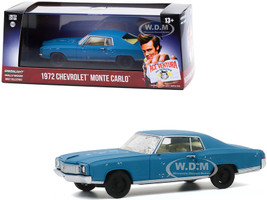 1972 Chevrolet Monte Carlo Blue A Beat Up Ace Ventura Pet Detective 1994 Movie 1/43 Diecast Model Car Greenlight 86564