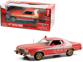 1976 Ford Gran Torino Red White Stripe Weathered Version Starsky and Hutch 1975 1979 TV Series 1/24 Diecast Model Car Greenlight 84121