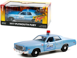 1977 Plymouth Fury Detroit Police Light Blue Beverly Hills Cop 1984 Movie 1/24 Diecast Model Car Greenlight 84122