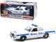 1976 Dodge Coronet White Blue Stripes Boston Police Department Massachusetts Hot Pursuit Series 1/24 Diecast Model Car Greenlight 85521