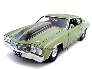 1970 Chevrolet Chevelle SS 454 Pro Street Green 1/24 Diecast Car Unique Replicas 18675