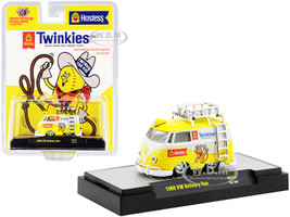 1960 Volkswagen Delivery Van Ladder Roof Rack White Yellow Twinkies Limited Edition 8250 pieces Worldwide 1/64 Diecast Model Car M2 Machines 31500-HS13