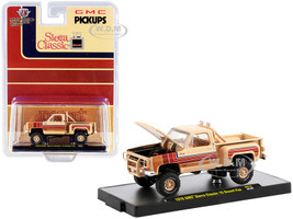 1976 GMC Sierra Classic 15 Pickup Truck Desert Fox Buckskin Tan Stripes Limited Edition 8250 pieces Worldwide 1/64 Diecast Model Car M2 Machines 31500-HS15