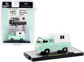 1965 Ford Econoline Pickup Truck Camper Shell Mint Green White Limited Edition 4400 pieces Worldwide 1/64 Diecast Model Car M2 Machines 31500-HS16
