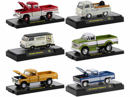 Auto Trucks 6 piece Set Release 63 DISPLAY CASES Limited Edition 8875 pieces Worldwide 1/64 Diecast Model Cars M2 Machines 32500-63