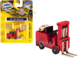 1950's 1960's Forklift Truck Red Accessories 1/87 HO Scale Model Classic Metal Works 20247
