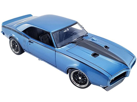 1968 Pontiac Firebird Street Fighter Lucerne Blue Metallic Black Stripes Limited Edition 984 pieces Worldwide 1/18 Diecast Model Car ACME A1805211