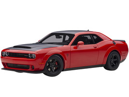 Dodge Challenger SRT Demon Tor Red Satin Black Graphic Package 1/18 Model Car Autoart 71749