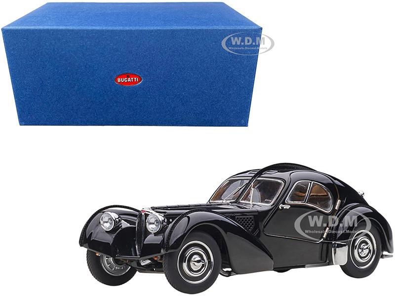 1938 Bugatti Type 57sc Atlantic Disc Wheels Black 1 43 Diecast Model Car Autoart 50946