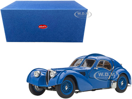 1938 Bugatti Type 57SC Atlantic Metal Wire Spoke Wheels Blue 1/43 Diecast Model Car Autoart 50947