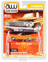 1962 Chevrolet Impala SS Convertible Yellow Graphics Custom Lowriders Limited Edition 4800 pieces Worldwide 1/64 Diecast Model Car Autoworld CP7739