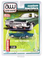 1966 Chevrolet Impala SS Blue Metallic Graphics Custom Lowriders Limited Edition 4800 pieces Worldwide 1/64 Diecast Model Car Autoworld CP7740