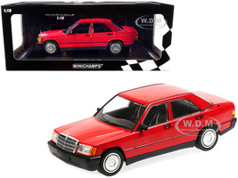 1982 Mercedes Benz 190E W201 Red Limited Edition 702 pieces Worldwide 1/18 Diecast Model Car Minichamps 155037000