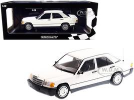 1982 Mercedes Benz 190E W201 White Limited Edition 702 pieces Worldwide 1/18 Diecast Model Car Minichamps 155037002