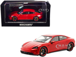 2020 Porsche Taycan Turbo S Red Limited Edition 336 pieces Worldwide 1/43 Diecast Model Car Minichamps 410068472