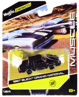 1987 Buick Grand National Black Muscle Series 1/64 Diecast Model Car Maisto 15494-20 G