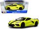 2020 Chevrolet Corvette Stingray Z51 Coupe Yellow Black Stripes 1/24 Diecast Model Car Maisto 31527