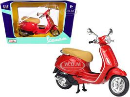 Vespa Primavera 150 Scooter Red 1/12 Diecast Model Maisto 32721