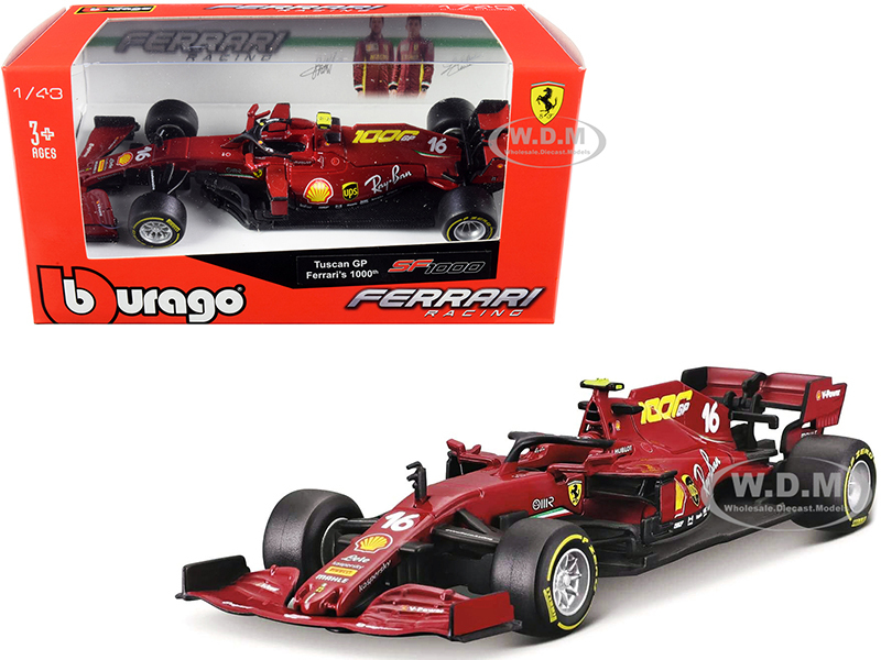 Ferrari SF1000 #16 Charles Leclerc Tuscan GP Formula One F1 2020 Ferrari's 1000th Race 1/43 Diecast Model Car Bburago 36823 CL