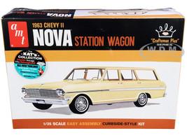 Skill 2 Model Kit 1963 Chevrolet II Nova Station Wagon Craftsman Plus Series 1/25 Scale Model AMT AMT1202