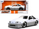1989 Ford Mustang GT 5.0 White Gray Bigtime Muscle 1/24 Diecast Model Car Jada 32668