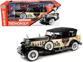 1932 Cadillac V16 Sport Phaeton Convertible Mr. Monopoly Resin Figurine 1/18 Diecast Model Car Autoworld AWSS127