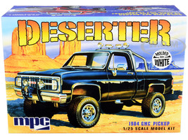 Skill 2 Model Kit 1984 GMC Pickup Truck Molded in White Deserter 1/25 Scale Model MPC MPC847