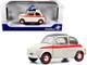 1960 Fiat 500 L Nuova Sport Cream Red Stripes 1/18 Diecast Model Car Solido S1801401