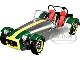 1989 Lotus Seven Silver Green 1/18 Diecast Model Car Solido S1801803