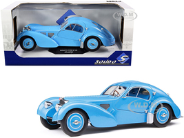 1937 Bugatti Type 57 SC Atlantic RHD Right Hand Drive Light Blue 1/18 Diecast Model Car Solido S1802104
