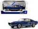 1967 Ford Mustang Shelby GT500 Nightmist Blue Metallic White Stripes 1/18 Diecast Model Car Solido S1802903