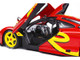 1996 McLaren F1 GTR Short Tail Launch Livery Red Yellow Graphics 1/18 Diecast Model Car Solido S1804102