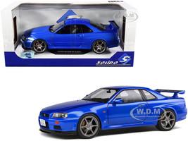 1999 Nissan Skyline GT-R R34 RHD Right Hand Drive Bayside Blue Metallic 1/18 Diecast Model Car Solido S1804301