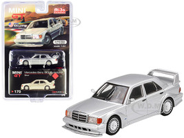Mercedes Benz 190E Evolution II Silver Limited Edition 2400 pieces Worldwide 1/64 Diecast Model Car True Scale Miniatures MGT00170