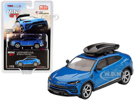Lamborghini Urus Roof Box Blue Eleos Metallic Limited Edition 2400 pieces Worldwide 1/64 Diecast Model Car True Scale Miniatures MGT00172