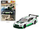 Bentley Continental GT3 RHD Right Hand Drive Presentation Car 2018 Silver Green Stripes Limited Edition 1800 pieces Worldwide 1/64 Diecast Model Car True Scale Miniatures MGT00176