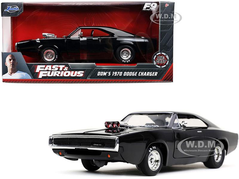 Dom's 1970 Dodge Charger 500 Black Fast & Furious 9 F9 2021 Movie 1/24 Diecast Model Car Jada 31942