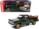 1977 Dodge Warlock 150 Custom Stepside Pickup Truck Medium Green Sunfire Metallic Gold Graphics 1/18 Diecast Model Car Autoworld AMM1243