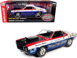 1969 AMC AMX S/S Drag-on-Lady Legends of the Quarter Mile MCACN Muscle Car & Corvette Nationals 1/18 Diecast Model Car Autoworld AW267