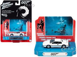 1976 Lotus Esprit S1 White Collectible Tin Display 007 James Bond The Spy Who Loved Me 1977 Movie 10th James Bond Series 1/64 Diecast Model Car Johnny Lightning JLDR014 JLSP118