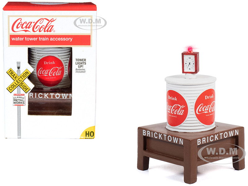 Coca-Cola Water Tower with Light Bricktown 1/87 HO Scale Models Classic Metal Works TC115
