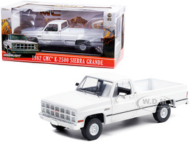 1982 GMC K-2500 Sierra Grande Wideside Pickup Truck White 1/18 Diecast Model Car Greenlight 13562
