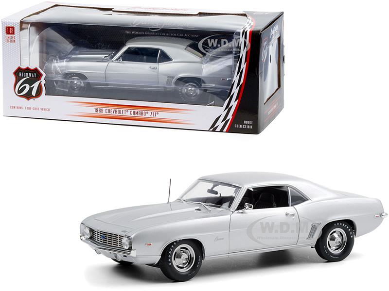 1969 Chevrolet Camaro ZL1 Coupe Silver Lot #5010 Barrett-Jackson Scottsdale 2012 1/18 Diecast Model Car Highway 61 18029
