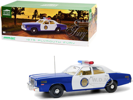 1975 Plymouth Fury Osage County Sheriff Blue White 1/18 Diecast Model Car Greenlight 19096