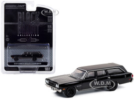 1970 Plymouth Satellite Station Wagon Black Bandit Series 24 1/64 Diecast Model Car Greenlight 28050 A