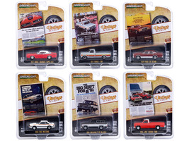 Vintage Ad Cars Set of 6 pieces Series 4 1/64 Diecast Model Cars Greenlight 39060