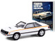 1980 Ford Mustang White with Stripes Introducing A Sports Car For The 80's Ford Mustang Vintage Ad Cars Series 4 1/64 Diecast Model Car Greenlight 39060 D